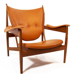 """The """"Chieftain Chair"""" remains a remarkable collectors piece. A specimen from Niels Vodder was sold at Sotheby's New York no later than December 2012 at the price of 34,300$"""