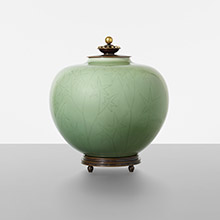 Gerd Bogelund, vase with copper lid