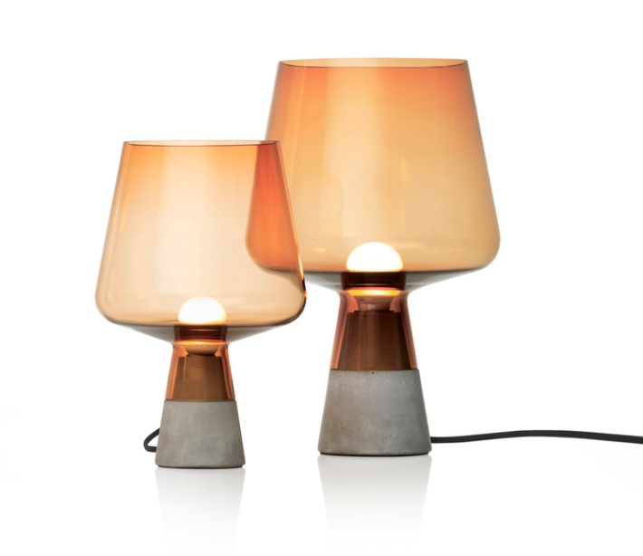Concrete and glass, Leimu lamp by Magnus Pettersen comes in two sizes